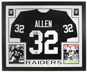 "2000s Marcus Allen Los Angeles Raiders 36"" x 44"" Framed Display w/ Signed Jersey (*JSA*)"