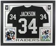 "2000s Bo Jackson Los Angeles Raiders 36"" x 44"" Framed Display w/ Signed Jersey (*JSA*)"