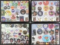 1960s-90s Baseball Football Basketball Politics Pop Culture Entertainment Pinback Button Collection - Lot of 325+