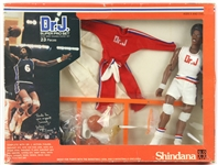 1977 Julius Erving Philadelphia 76ers MIB Shindana Toys Dr. J Super Pro Set Action Figure & Accesories
