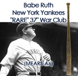 "1921-31 Babe Ruth New York Yankees H&B Louisville Slugger Professional Model Whopping 37"" Bat (MEARS A6) ""Longest Ruth Bat Known!"""