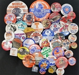 1970-1990s Pinback Button Collection (Lot of 45)