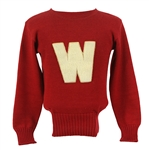 1920s Wisconsin Red Football Sweater