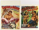 1970s Tarzans Desert Mystery & Tarzan and The Leopard Woman French Language Movie Poster Collection - Lot of 2