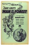 "1933 Man of the Forest 11"" x 17"" Paramount Press Book"