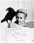 1963 Tippi Hedren The Birds (posed with arms folded) Signed LE 16x20 B&W Photo (JSA)