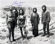 1968 Linda Harrison Planet of the Apes (group image with Heston & McDowall) Signed LE 16x20 B&W Photo (JSA)