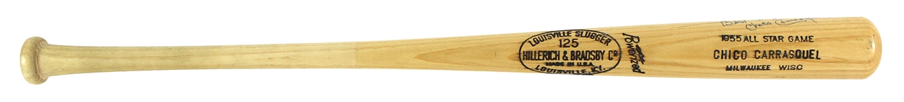 1955/75 Chico Carrasquel Chicago White Sox Professional Model All-Star Game Bat Autographed (MEARS LOA/JSA)