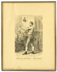 "1860 Tom Sayers British Bare Knuckle Champion 18"" x 23"" Framed Collector Print"