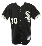 1992 Tim Raines Chicago White Sox Black Alternate Game Worn Jersey (MEARS A10)