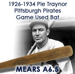"1926-1934 Pie Traynor Pittsburgh Pirates Hand Turned Spalding Professional Model Game Used Bat (MEARS A6.5) ""The Goodwill Traynor"""