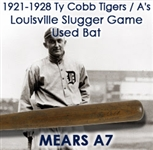 1921-1928 Ty Cobb Tigers / Athletics H&B Louisville Slugger Professional Model Game Used Bat (MEARS A7)