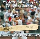 2004-2005 Albert Pujols St. Louis Cardinals C243 Game Used Bat (MEARS A7)
