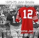 1970-73 John Brodie San Francisco 49ers Game Worn Home Jersey (MEARS A8)