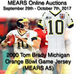 Lot Detail - 2000 Tom Brady Michigan Orange Bowl Game Jersey ...