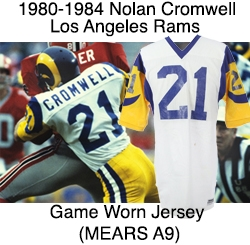 half off ce0ed 1f4fc Lot Detail - 1980-1984 Nolan Cromwell Los Angeles Rams Road ...