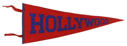 "1940s PCL Vintage Hollywood Red 29"" Pennant"