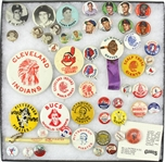 1950-1960s Baseball Pinback Buttons (Lot of  45+)