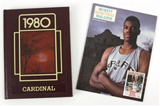 1980 South Division Cardinal Yearbook & 1990 Beckett Basketball Magazine *