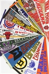"1960's—2000's NCAA Football, NCAA Basketball, NBA, NHL, MLB, Individual Baseball Players, and NFL Team, Championship, and Phantom 29"" Pennants (Lot of 99)"