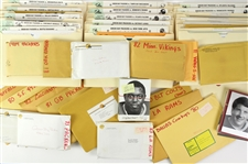 1980s NFL Press Photos and Release Collection (31 Envelopes, 100+ Items)