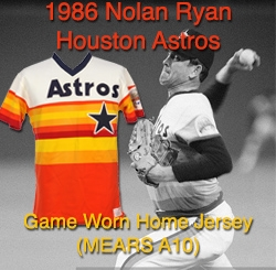 low priced f928d 3838b Lot Detail - 1986 Nolan Ryan Houston Astros Autographed Home ...