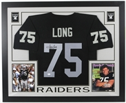 "2015 Howie Long Los Angeles Raiders 36"" x 44"" Framed Display w/ Signed Jersey (*JSA*)"