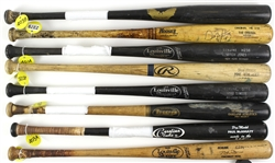 1980's – 2000's Professional Model Game Used bat Collection Lot of 22 w/ Bret Boone, Rondell White, Ruben Sierra, Walt Weiss, Dave Martinez, Ron Hassey and more (MEARS LOA)