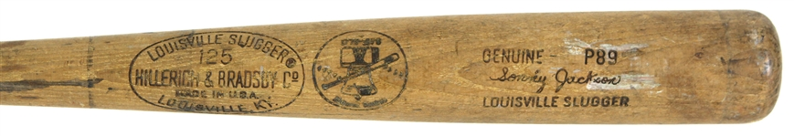 1976 Sonny Jackson Chicago White Sox Louisville Slugger H&B Bi-Centennial Professional Model Spring Training Game Used Bat (MEARS LOA)