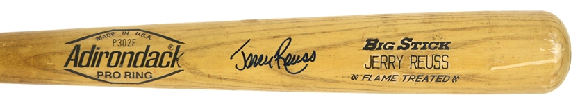 1980-82 Jerry Reuss Los Angeles Dodgers Adirondack Store Model Autographed Bat (MEARS LOA / JSA)