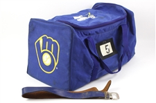 1990s #5 Milwaukee Brewers Game Used Equipment Bag
