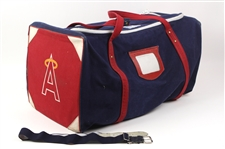 1980s Los Angeles Angels Game Used Equipment Bag