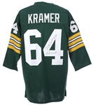 Jerry Kramer Green Bay Packers Signed Throwback #64 Green Jersey (JSA)