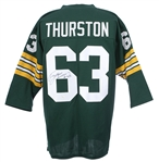 Fuzzy Thurston Green Bay Packers Signed Throwback #63 Green Jersey (JSA)