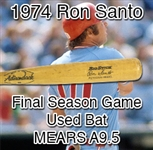 "1974 Ron Santo Chicago White Sox Red Ring Adirondack Professional Model Game Used Bat (MEARS A9.5) ""Final Season in the Majors!"""