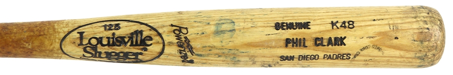 1993-95 Phil Clark San Diego Padres Louisville Slugger Professional Model Game Used Bat (MEARS LOA)