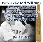1939-42 Ted Williams Boston Red Sox H&B Louisville Slugger Professional Model Game Used Bat (MEARS A8 & PSA/DNA)