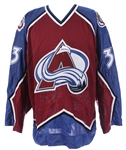 1997-99 Patrick Roy Colorado Avalanche Signed Game Worn Road Jersey (MEARS LOA/JSA)