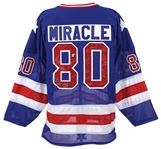1980 USA Olympic Hockey Miracle On Ice Team Signed Jersey w/ 20 Signatures (JSA) 176/980