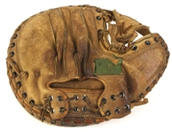 "1968-1970s Jim ""Catfish"" Hunter Catcher's Mitt & Glove Collection (MEARS LOA) Attributed To Have Caught His Perfect Game"