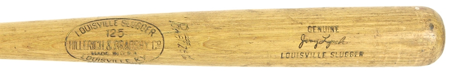 1954-60 Jerry Lynch Pirates/Reds H&B Louisville Slugger Professional Model Game Used Bat (MEARS LOA)