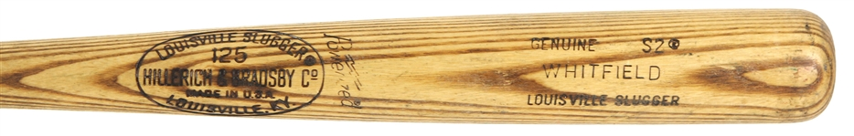 1977-78 Terry Whitfield/Larry Herndon San Francisco Giants H&B Louisville Slugger Professional Model Game Used Bat (MEARS LOA)