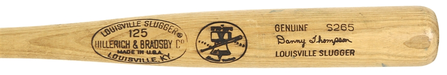1976 Danny Thompson Texas Rangers H&B Louisville Slugger Professional Model Game Used Bat (MEARS A8.5)