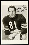 "1948-1955 George Connor Chicago Bears Signed 3 1/2"" x 5 1/2"" B&W Photo (JSA)"