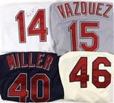 2006-2009 Cleveland Indians Game Worn Jerseys Including Eric Wedge (Autographed), Matt Miller and More (Lot of 4) (MEARS LOA) (JSA)