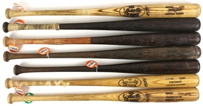 1970s-80s Professional Model Game Used Bat Collection - Lot of 14 w/ Julio Franco, Dave Henderson, Cliff Johnson, Bill Russell & More (MEARS LOA)