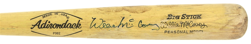 1971-79 Willie McCovey Giants/Padres/Athletics Signed Adirondack Professional Model Game Used Bat (MEARS LOA/JSA)