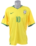 2008 Ronaldinho Brazil National Soccer Team World Cup Qualifier Jersey (MEARS LOA)