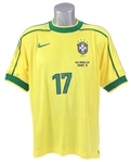 1998 Doriva Brazil National Soccer Team World Cup Jersey (MEARS LOA)
