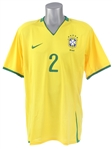 2008 Daniel Alves Brazil National Soccer Team Jersey (MEARS LOA)